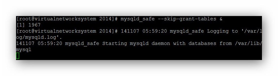 how to find root password for mysql